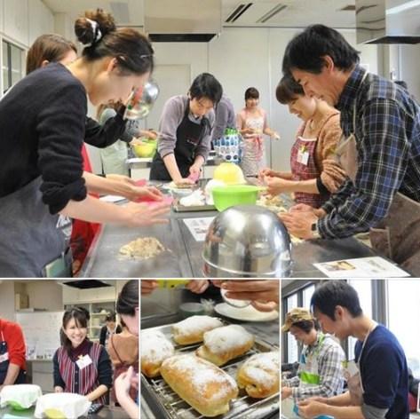 パン作りは各自で作業します!