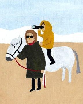 馬から見る人