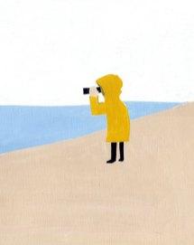 海を見る人
