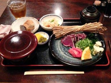 かつおのタタキ定食(塩)