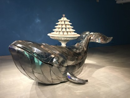Whale with urinals on top