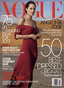 Jolie on Vogue cover 2006