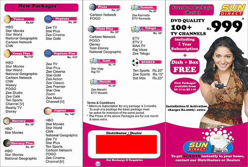 Sun direct HD TV in India