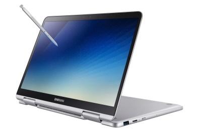 A tela pode girar 360 graus. Dessa forma o S51 Pen pode ser utilizado como um tablet