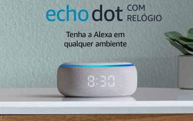 Amazon: a nova caixa de som Echo Dot agora com relógio em LED