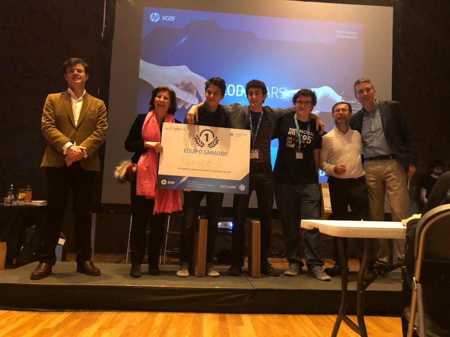 HP Codewars Madrid ganadores IES Ramiro de Maetzu - HP CodeWars vuelve a Madrid fomentando el bilingüismo tecnológico