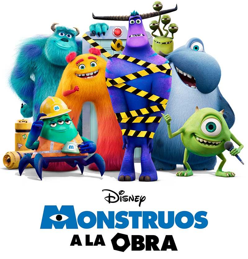 MONSTRUOS A LA OBRA POSTER - Todo lo que nos trae Disney+ este mes de julio: Viuda Negra, Sharkfest, Monstruos a la Obra y mucho más