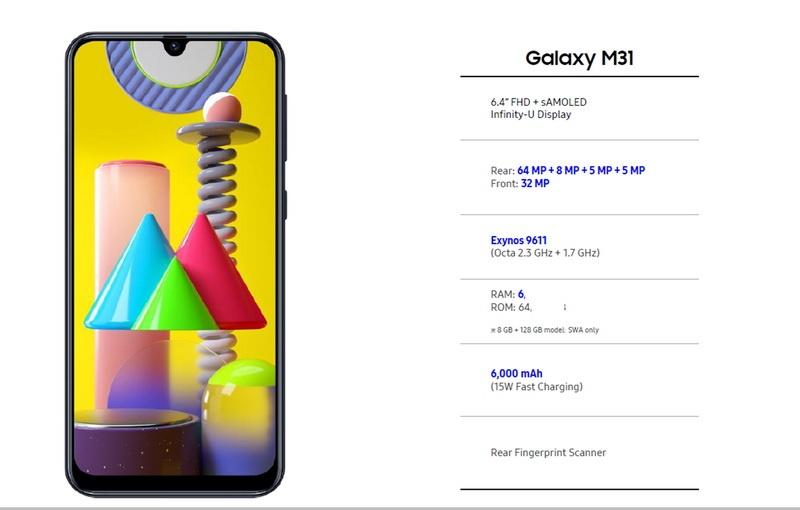 Samsung Galaxy M31 4 - Samsung Galaxy M31: cámara cuádruple y batería de 6000mAh
