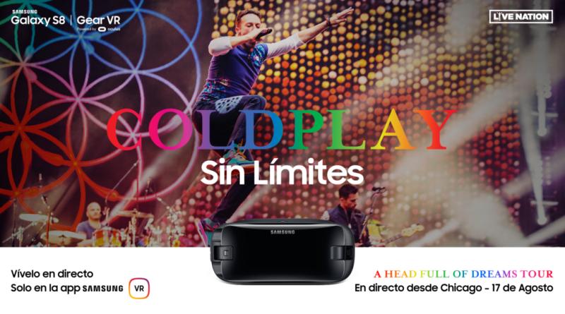 Samsung te lleva un concierto de Coldplay... ¡a tu casa!