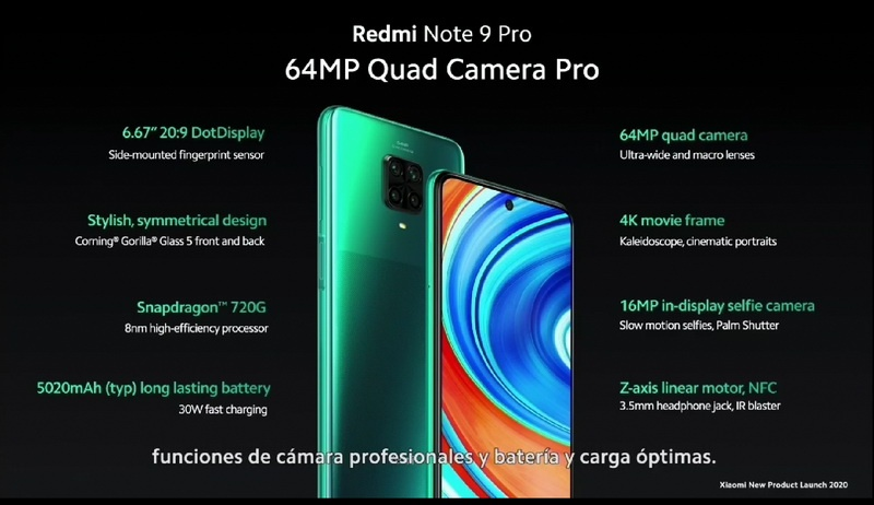 Xiaomi Redmi Note 9 Pro 4 - Xiaomi presenta los Redmi Note 9 Pro, Redmi Note 9 y Mi Note 10 Lite