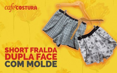 Short Fralda Dupla Face com MOLDE