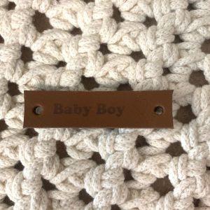 Lederen label Baby Boy