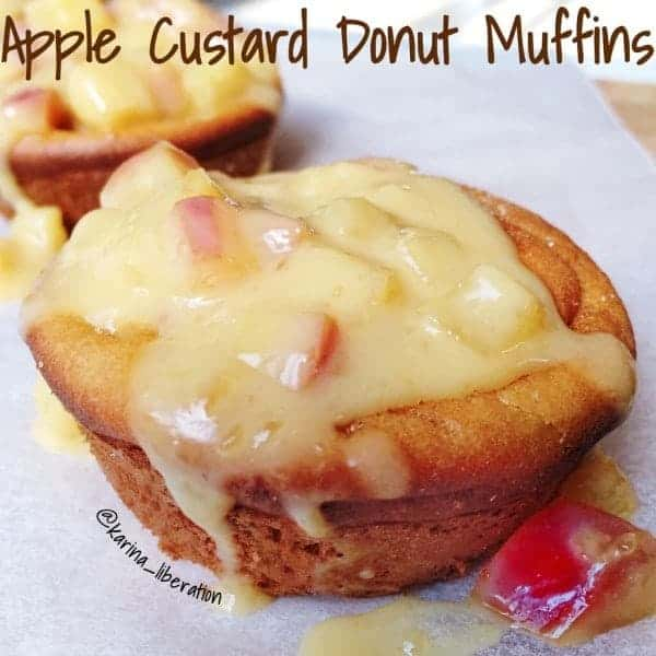 Apple Custard Donut Muffins