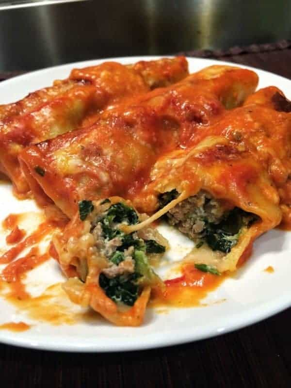 Turkey, Spinach and Ricotta Cannelloni with a Creamy ...