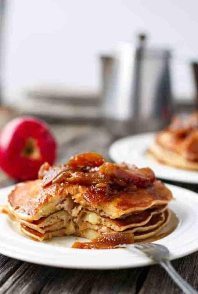 Caramel Apple Pancakes - Cafe delites
