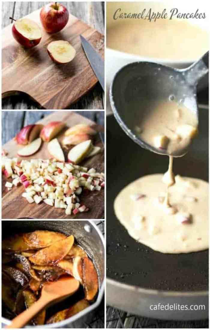 Caramel Apple Pancakes - cafedelites