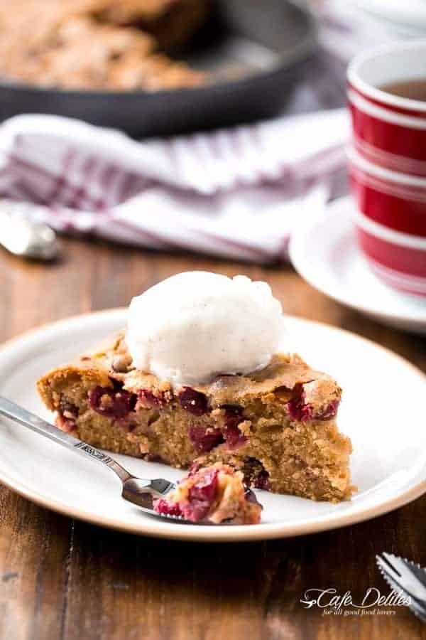 Boozy-Cranberry-Cobbler-Cake | https://cafedelites.com