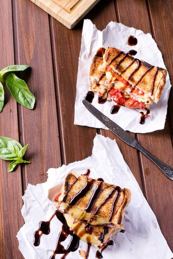 Caprese Grilled Cheese - Cafe Delites-22
