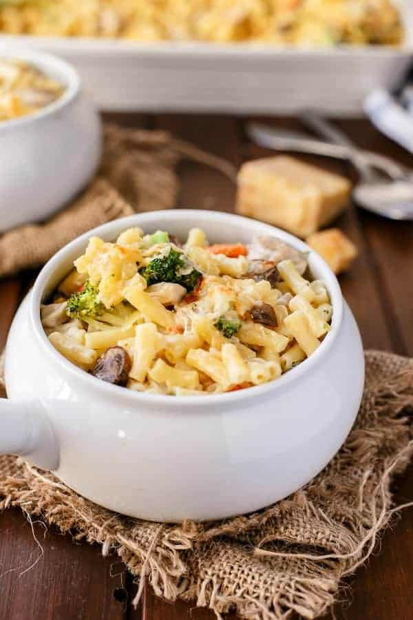 Creamy Chicken and Mushroom Macaroni Cheese - Cafe Delites-41