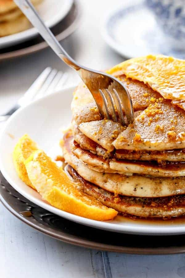 Orange Poppyseed Pancakes http://cafedelites
