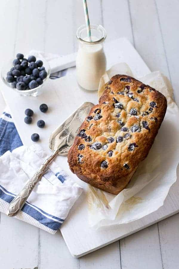 Blueberry Coconut Muffin Cake | https://cafedelites.com