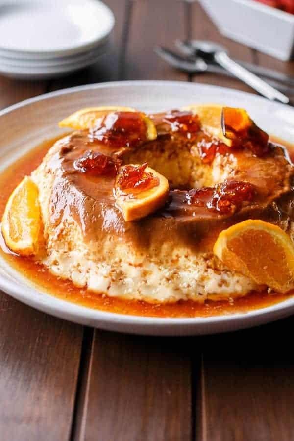 Orange Creme Caramel with Toffee Shards   http://cafedelites.com