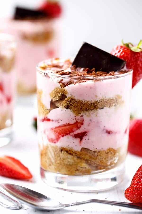 Strawberries and Cream Tiramisu Parfait