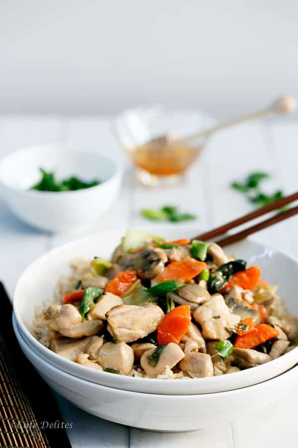 Honey Mustard Chicken Stir Fry | http://cafedelites.com