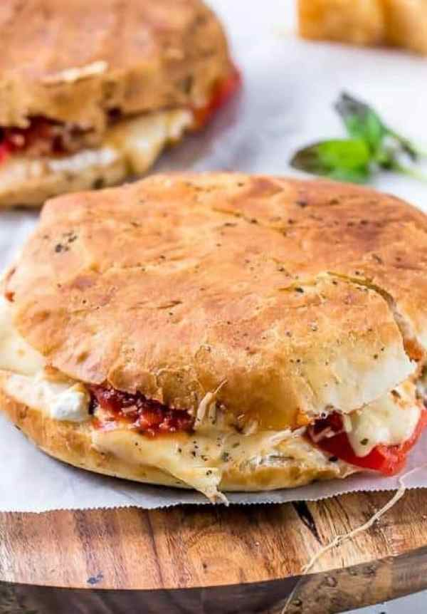 Focaccia Three-Cheese Italian Grilled Cheese | https://cafedelites.com