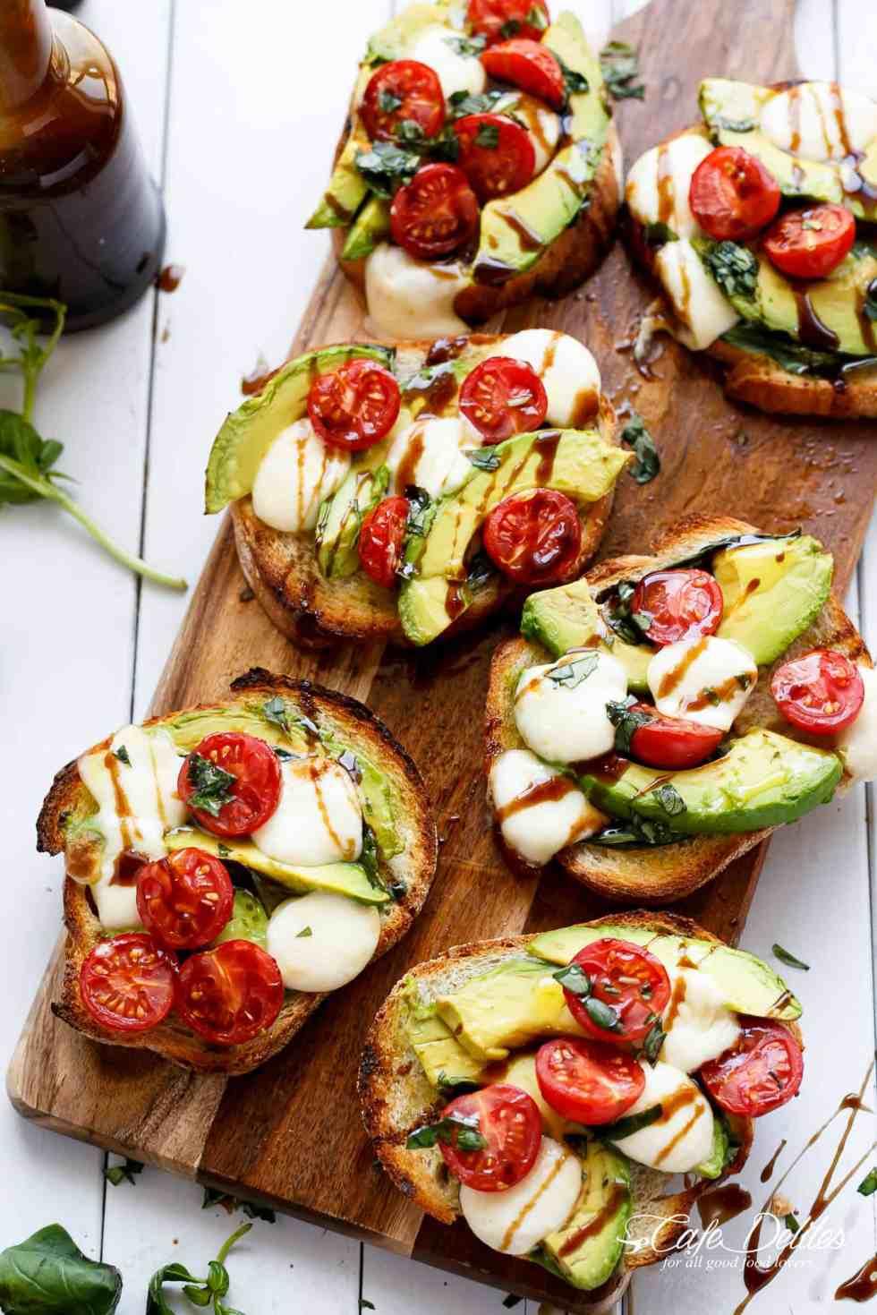 Avocado Caprese Garlic Breads are so easy to make and delicious!