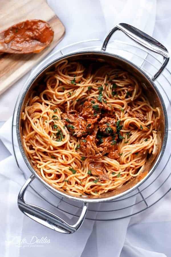 Spaghetti Bolognese | http://cafedelites.com