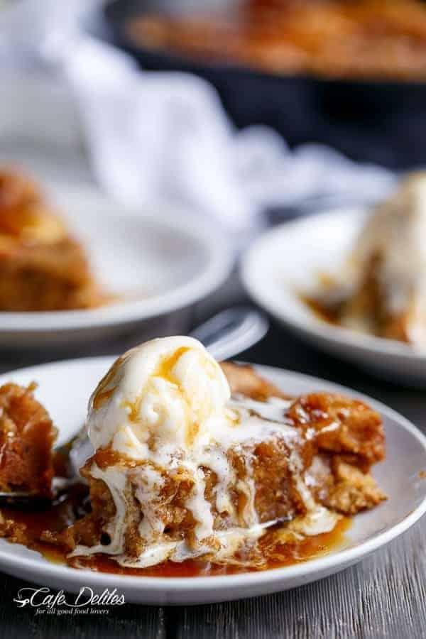 Apple Pie Deep Dish Cookie Dough Blondies | http://cafedelites.com