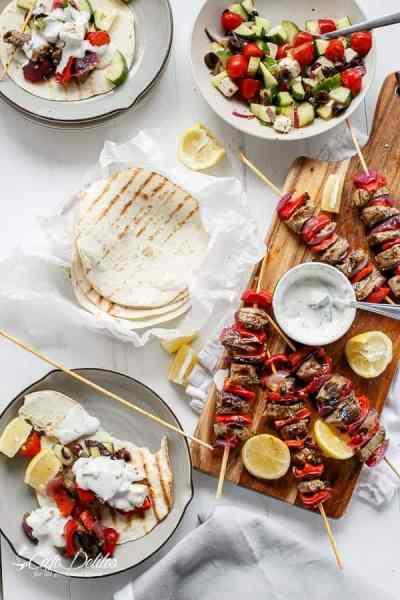 Greek Style Lamb Skewers with a Greek Yogurt Sauce-29