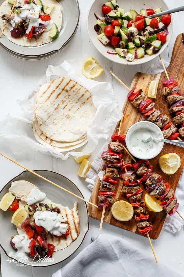 how to make garlic sauce for souvlaki