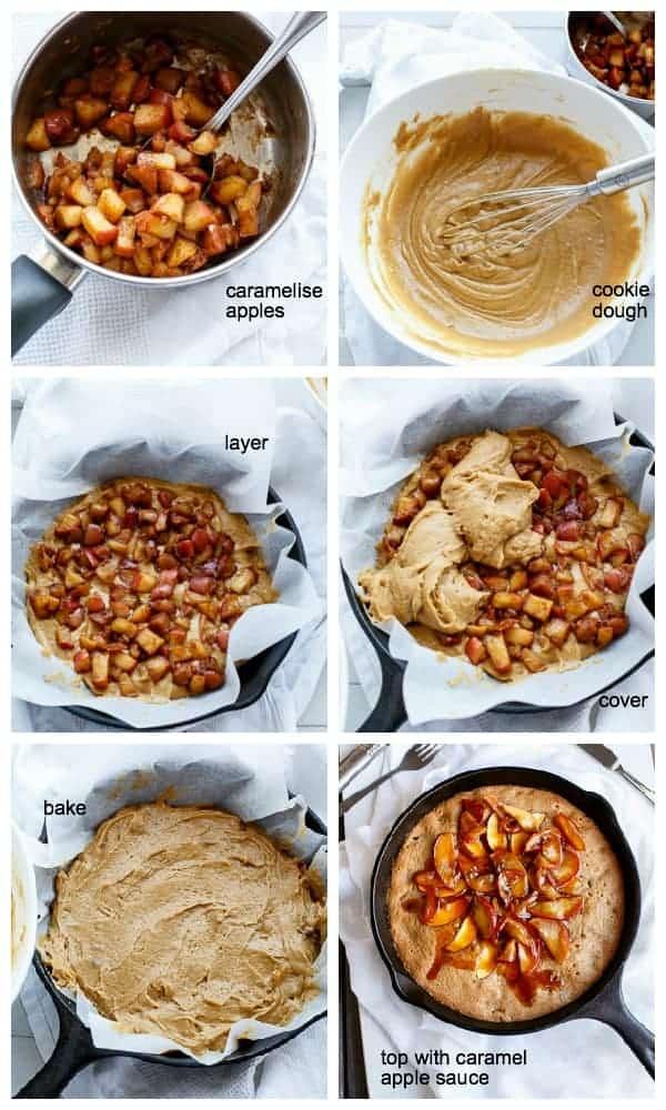 HOWTO Apple Pie Deep Dish Cookie Dough Blondies | http://cafedelites.com