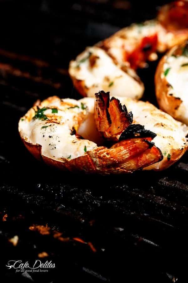 Barbecued Seafood Salad with Garlicky Greek Yogurt Dressing   http://cafedelites.com