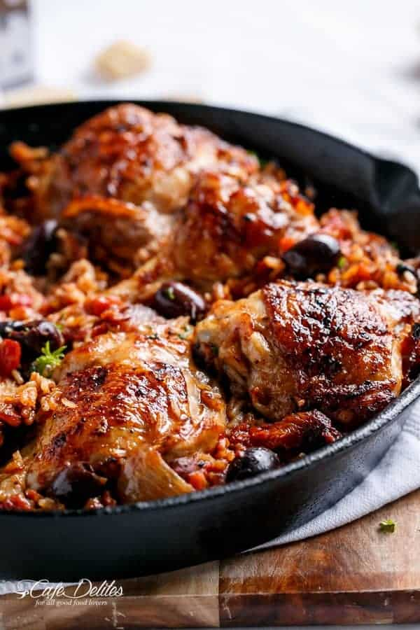 One Pot Italian Chicken And Rice Cafe Delites