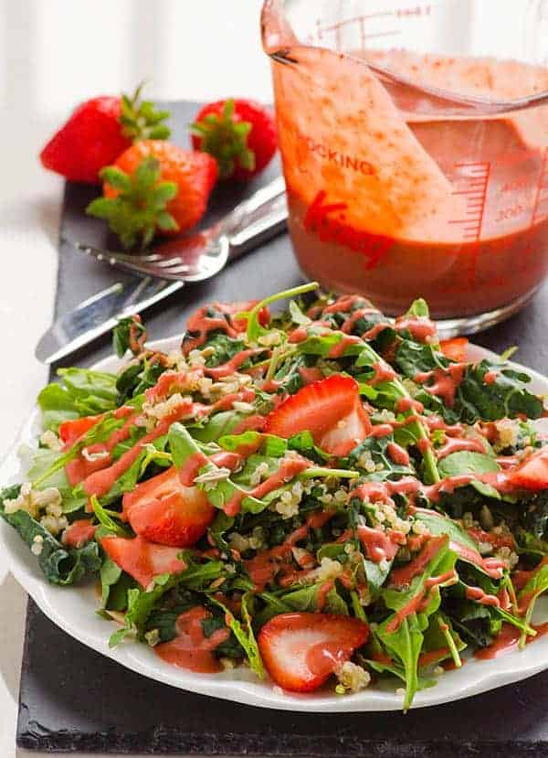 Clean Eating Strawberry Quinoa Kale Salad