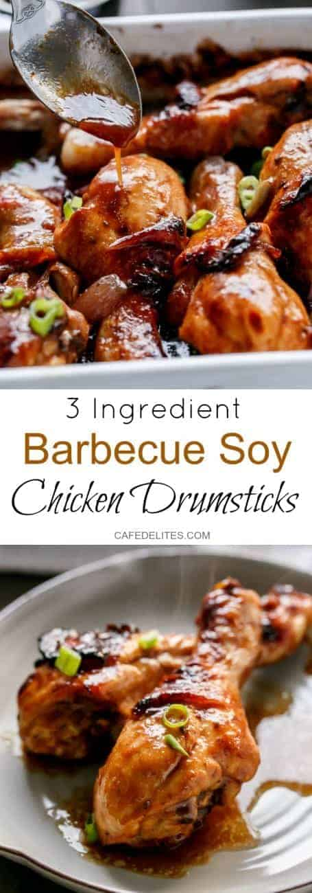 Barbecue Soy Chicken Drumsticks | http://cafedelites.com