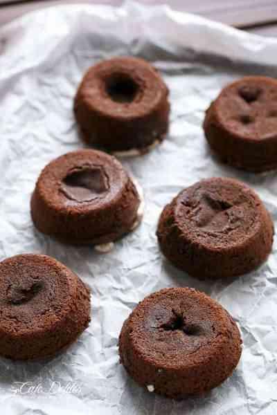Chocolate Marshmallow Lava Cakes   https://cafedelites.com