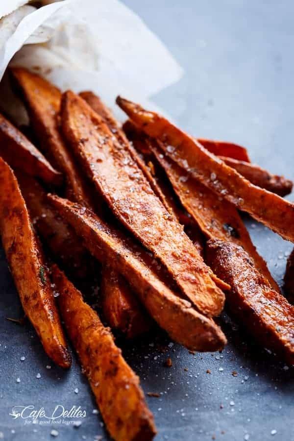 how to cook sweet potato wedges crispy