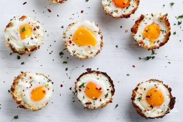 Hash Brown Egg Nests (Low Carb + Gluten Free) | https://cafedelites.com