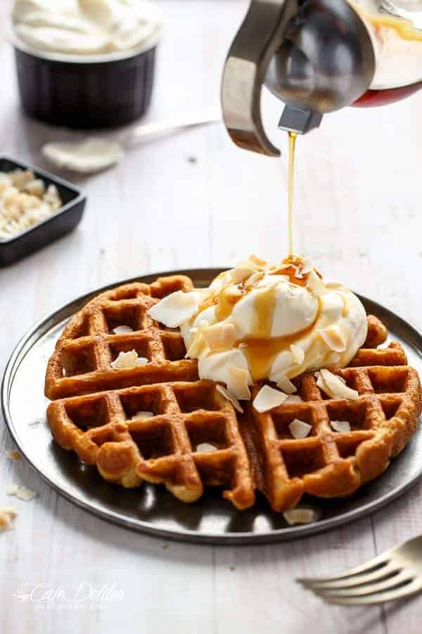 Coconut Cream Pie Waffles