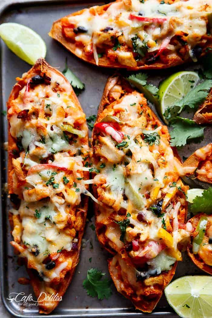 Twice baked chicken fajita sweet potatoes cafe delites twice baked chicken fajita sweet potatoes httpscafedelites forumfinder Image collections