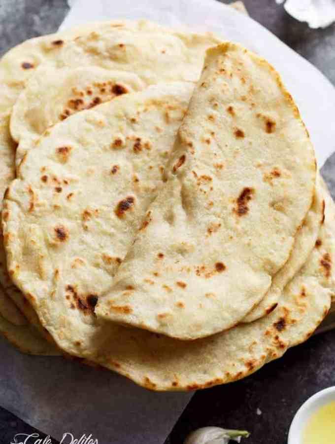 Easy Garlic Flatbread Recipe (No Yeast)