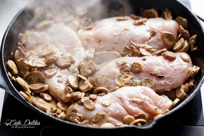 Julia Child's Creamy Chicken And Mushroom (Lightened Up)-8