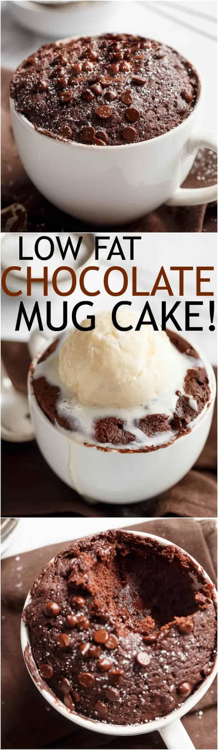 Low Fat Chocolate Mug Cake - Cafe Delites