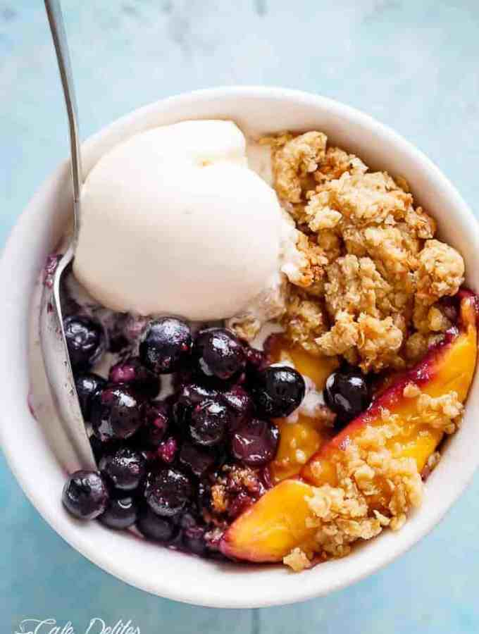 Easy Mango Blueberry Crumble (Crisp)