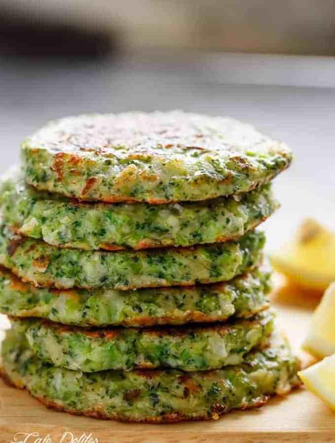 Crispy Broccoli Parmesan Fritters