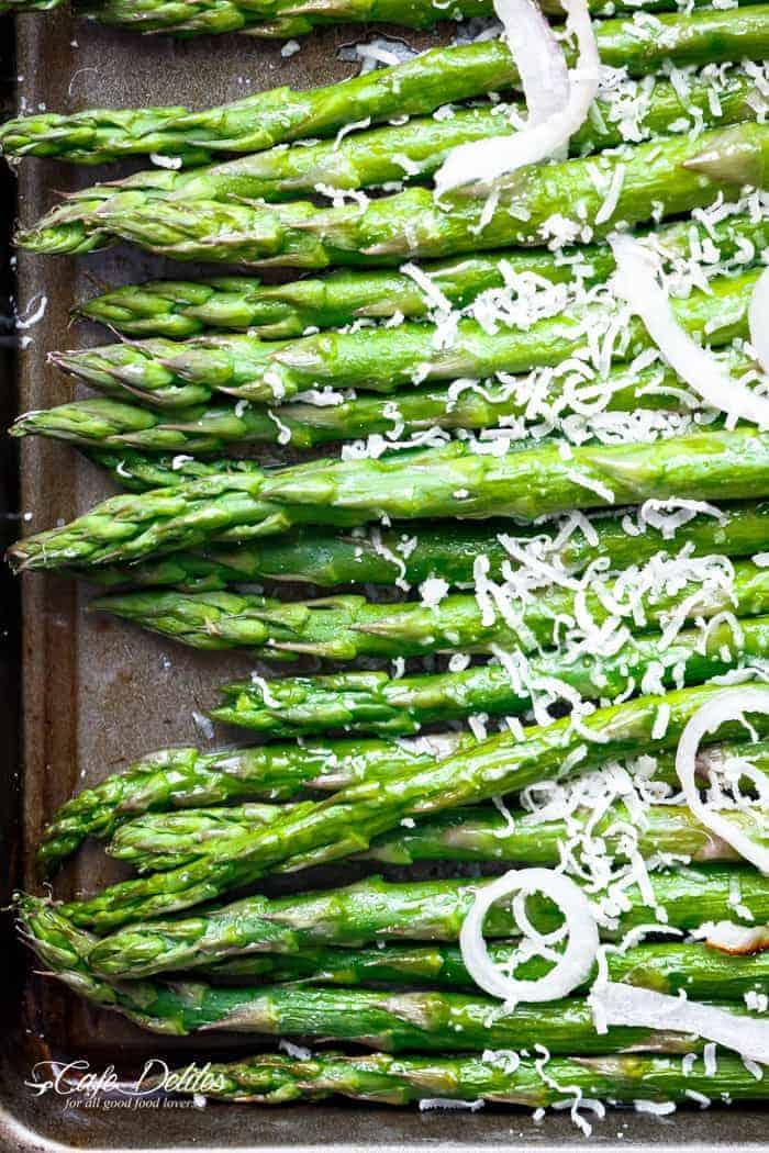 Garlic Browned Butter Baked Asparagus   https://cafedelites.com